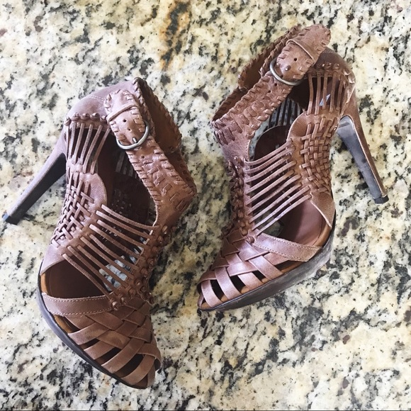 7b2d18d6c643 All Saints Shoes - All Saints Woven Braided Cage High Heel Sandals